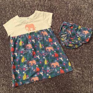 Mini Boden Elephant Dress | 12-18 mo